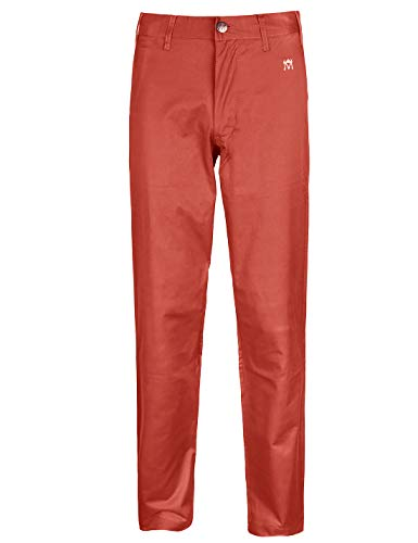 Bakery Herren Golfhose, Stretch, entspannte Passform, Tailored Tall Performance Classic Pants - Rot - 42W / 33L -