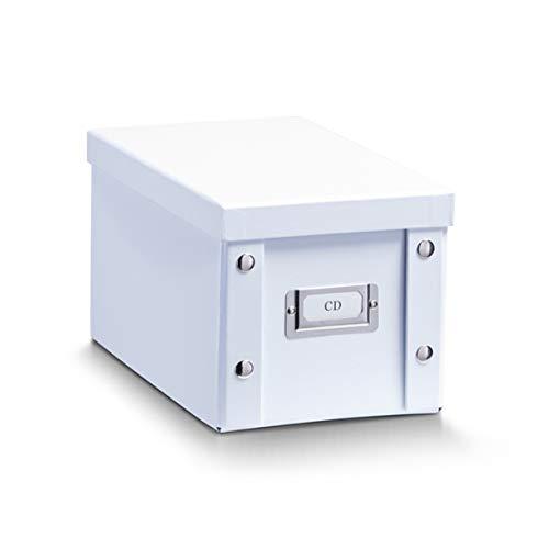 Zeller 17760 Caja de almacenaje de cartón Blanco (White) 16.5 x 28 x 15 cm