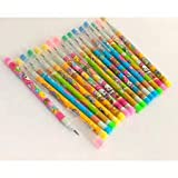 #9: Gifting Square Cartoon Lead Pencil with Eraser for Kids Best Birthday Return Gift.(Pack of 12)