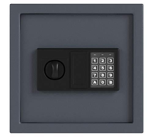 HMF 2030-11 Schlüsseltresor mit Elektronikschloss | 30 x 28 x 10 cm | 30 Haken | Anthrazit