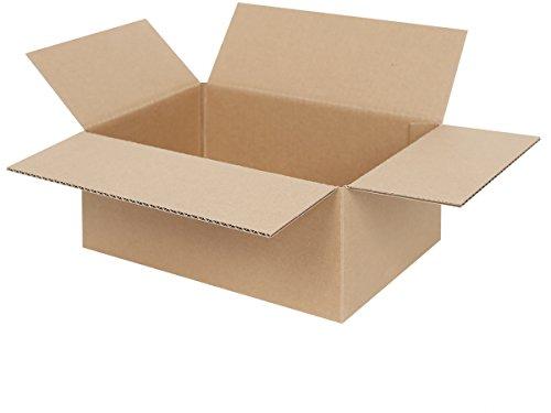 25 Faltkartons 250 x 175 x 100 mm | Versandkartons | Kartons geeignet für Versand mit DPD, GLS und Hermes