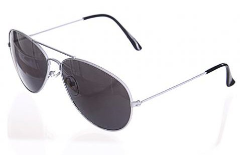 White Aviator Sunglasses Fashion 80s Retro Style Designer Shades UV400 Lens Unisex