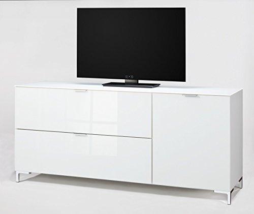 CS Schmalmöbel 45.012.505/018 TV-Board Cleo Typ 14, 163 x 50 x 73 cm, weiß / weißglas - 3