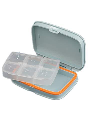 8-fach-lagerung (Pillendose Reise Tragbar 7 Tage Fach, Tägliche Pille Veranstalter Tragbare Mini-Pillendose Versiegelt Lagerung Und Verpackung6 Fach Weiß 11 * 8 * 2,5 Cm)