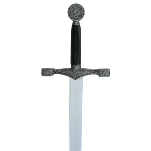 Excalibur Schwert mit Scheide Mittelalter Dekoschwert aus Stahl 75 cm - 2