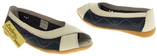 Footwear Studio , Ballerines pour femme beige/berry/black/blue/navy blue/pink/white Bleu - Bleu marine/blanc