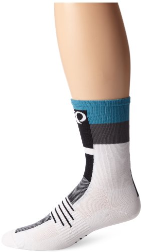 PEARL IZUMI Elite Socke Medium Tall Stripes Grey/Blue (Herren Izumi Pearl Socken Tall Elite)