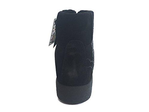 8996 NERO Scarpa donna sneaker zeppa interna Enval soft pelle made in Italy Nero