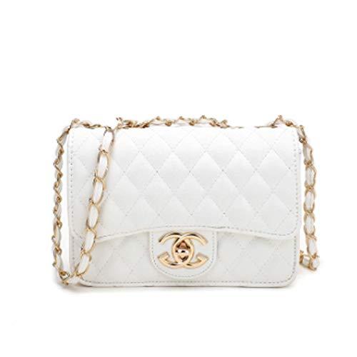 d79ae43243b54 Handbag neue Welle Paket Kuriertasche Damen weiblichen Beutel Handtaschen  für Frauen Handtasche (Weiß