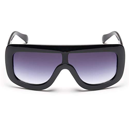 Yangjing-hl Mode gemeinsame Sonnenbrille Coole Persönlichkeit Einteilige Sonnenbrille Metallzahn Druck Qualitätssicherung beschmutzten Rahmen Doppel Tee