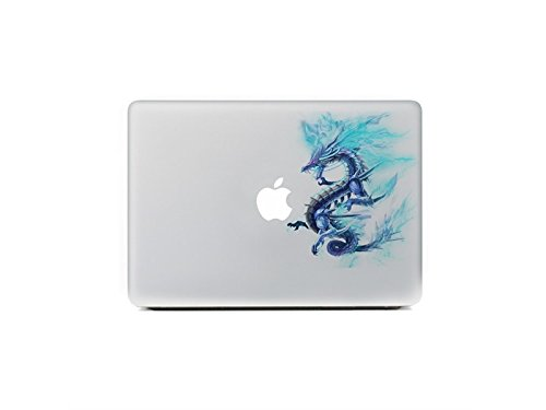 Arbre Adesivo Adorabile Uniserval Laptop Blue Dragon Adesivo parziale del...