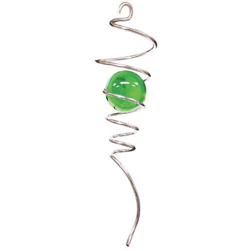 Woodstream 8051 Iron Stop Spirale mit grüner Kugel, 30cm, silber -
