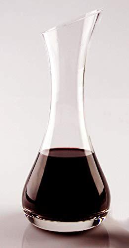Dekanter aus Glas, handgeschliffen, schlanke Form, Füllmenge für kleine Weinmengen ideal, Höhe...
