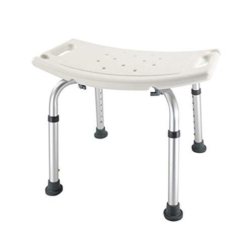 MXHSX Bad Sitz Duschhocker Bad Stuhl - Leichtes Aluminium - Höhenverstellbar - rutschfest - Ältere Frauen mit Behinderungen mit einem Gewicht von 150 kg