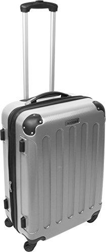 Hartschalen ABS hochglanz Koffer in verschiedenen Motiven und Ausführungen Silber