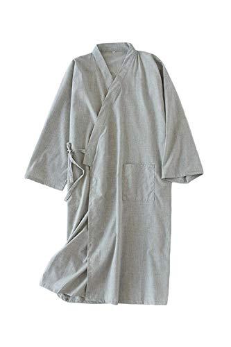Vepodrau Herren Nachthemden Schweiß Dampfenden Japanischen Bademantel Kimono Yukata Pyjama qgrey M -