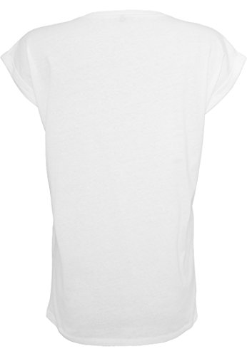 Damen Ladies Extended Shoulder Tee T-Shirt Sommershirt Damenshirt Prinzessinnen sind geboren weiß Gold Februar
