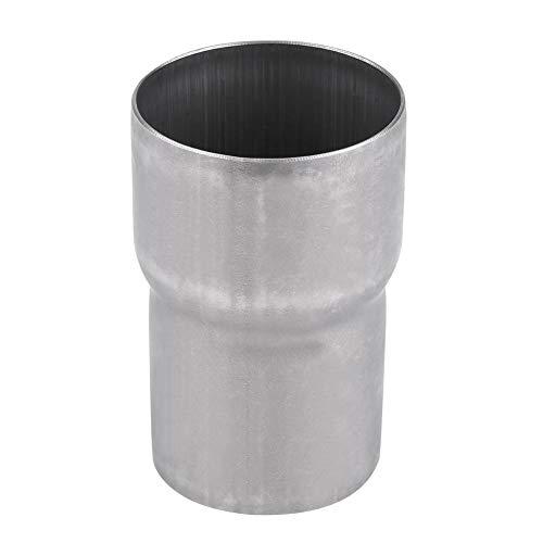Qiilu Rohrverbinder Abgasanlage Motorrad auspuff Rohrverbinder 51-60 mm aus rostfreiem Stahl Universal