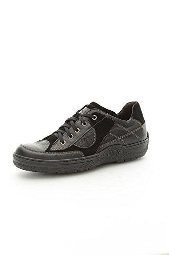 Lion 8652 Sneakers Uomo Camoscio/Pelle Nero Nero 43