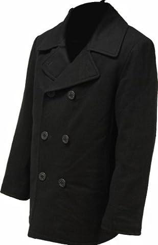 Highlander Pea Coat - Black, Small