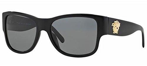 Versace Für Mann 4275 Black / Grey (Polarized) Kunststoffgestell Sonnenbrillen, 58mm