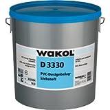 Wakol D 3330 PVC-Designbelagklebstoff, 10kg, Rollkleber für Designbeläge, für mit Wakol Ausgleichsmasse gespachtelte, mit Vorstrichkonzentrat oder mit Dispersionsvorstrich vorgestrichene Untergründe