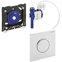 Geberit Urinal Handauslösung HyTouch Kunststoff Sigma10 pneumatisch, weiß / verchromt 116015KJ1