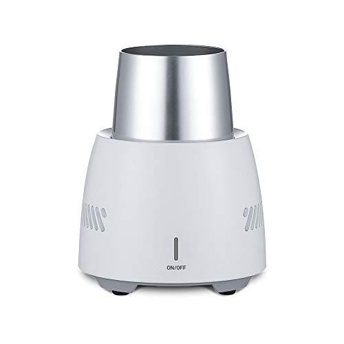 HHJ Eisbier Wein Getränk Elektronischer Flaschenkühler, tragbarer Mini-Kühlschrank, Schnellkühler für Schreibtisch und eine Flasche, Getränkekühler für Zuhause und Reisen weiß -