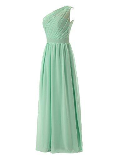 Dresstells, une épaule robe de soirée robe de demoiselle d'honneur longueur ras du sol Raisin