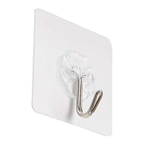 aken-Nagel frei Seamless Haken Transparent Strong Self Adhesive Tür Wandaufhänger Handtuch Mop Handtaschen-Halter ()