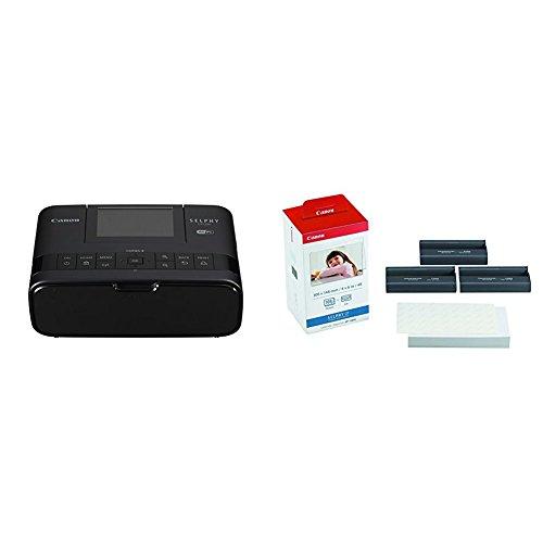 Canon italia selphy cp1300 stampante portatile, nero + canon kp-108in carta fotografica (108 fogli 10x15 cm) e cartuccia colore per stampante selphy, 3115b