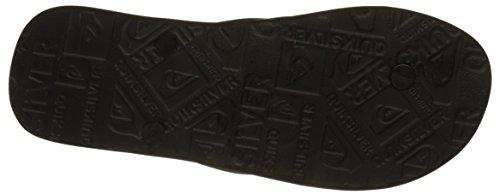 Quiksilver Molokai Nitro, Tongs Homme Multicolore (BLACK/BLACK/ORANGE)