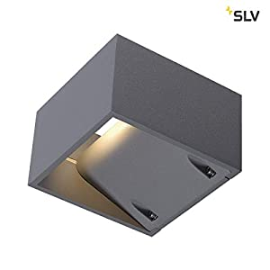 SLV 232104 LOGS WALL wall lamp, square, silvergrey, 6W LED, warm-white