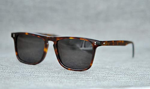 LKVNHP New Hochwertige Vintage Acetat Sonnenbrille Für Männer Frau Schildpatt Polarisierte Sonnenbrille Platz Marke Berühmte Modische2