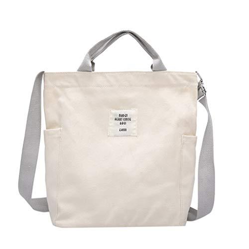 Maleya Canvas Tasche Damen Umhängetaschen Handtasche Vintage Handtasche Canvas Schultertasche Casual Tasche Damenmode Einfache einzelne Schulter Messenger Bags Canvas Bag