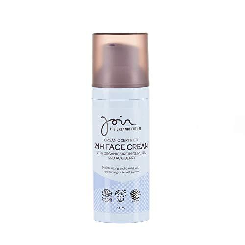 Join - Crema facial ecológica 24 h con aceite de oliva virgen y bayas de açaí (50 ml)