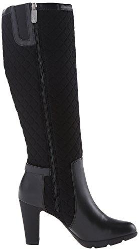 Anne Klein Sport Xtended Rund Textile Mode-Knie hoch Stiefel Bk2/Blk