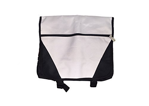 Deluxe Portfolio Messenger Bag Bookpack, Black by BAGS FOR LESSTM by Budget Bags Inc (Deluxe Bag Messenger)