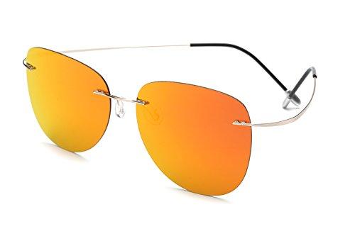 Tl-sunglasses 100% di titanio silhouette occhiali da sole polaroid super leggero uomini senza montatura di occhiali da sole polaroid occhiali polarizzati,titanio zp2117 c7