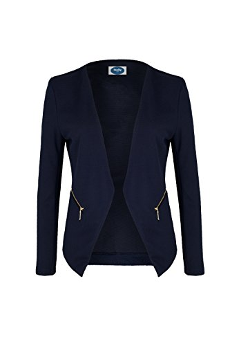 4tuality AO Blazer kragenlos mit Zipper blau Gr. XXXL