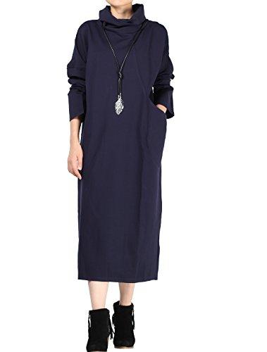 Vogstyle Donna Gonna Con Mucchi Alti Collare E Grande Tasche Stile-1 Marina Militare (Tasche Collare)