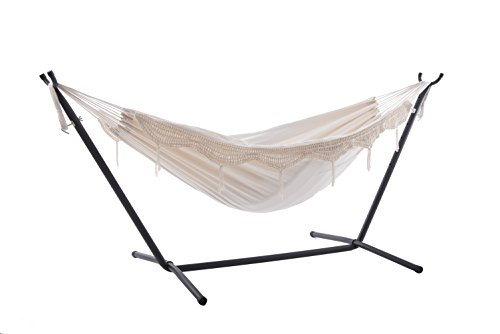 Vivere UHSDO8-00 Hamac Double avec Support Natural 250 x109 x 104 cm