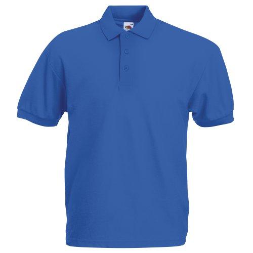 Fruit of the Loom Herren Poloshirt Blau