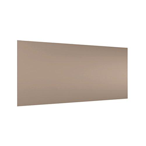Bilderwelten Panel antisalpicaduras de cristal - Mocca - Horizontal 1:2, panel antisalpicaduras panel de vidrio para cocina panel protector contra salpicaduras, Tamaño: 40cm x 80cm