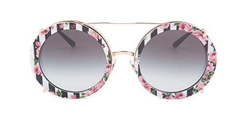 Ray-ban 0dg2198, occhiali da sole donna, nero (pink gold/black print rose), 63