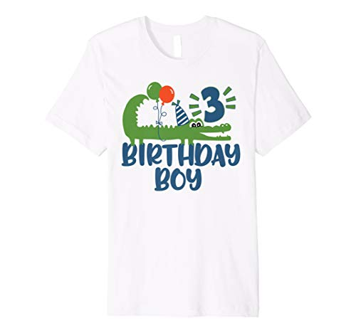 (3. Geburtstag Alligator Shirt für Jungen)