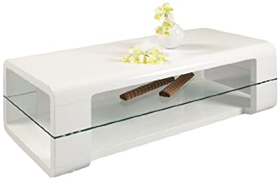 HL Design Danny Coffee Table, 120 x 60 x 40 cm, White - cheap UK coffee table store.