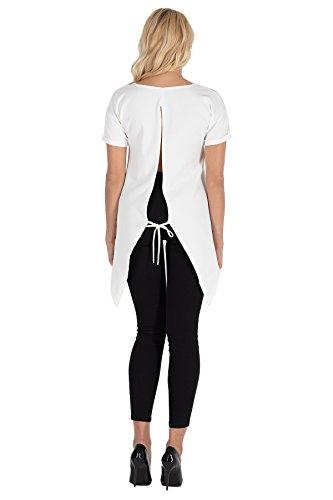 Clea Asymmetrische Bluse mit Einem Ausschnitt Am Rücken Ecru