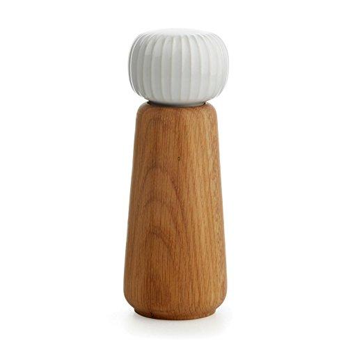 Kähler Design - Mühle/Gewürzmühle - Hammershøi - Weiß - Keramik - Holz - Höhe 17,5 cm