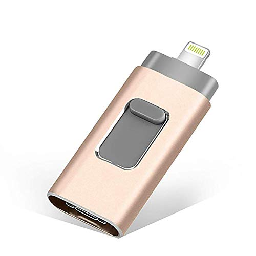 USB-Flash-Laufwerk für iPhone, iPhone Flash Drive 128 GB iPhone External Storage USB 2.0-Stick Foto Mobile für iPhone, Android, PC-Foto iPhone Picture-Stick,128G